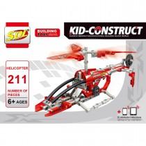"""3D-Конструктор """"Вертолет"""", 211 деталей"""