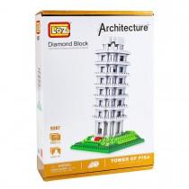 Конструктор Loz. Серия: Архитектура. Пизанская башня, нарушена упаковка товара