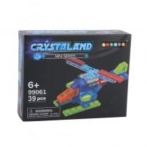 """Конструктор Crystaland """"Мини Вертолет"""", 39 деталей"""