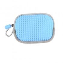 """Сумочка пиксельная маленькая """"Pixel Cotton Pouch"""", цвет светло-голубой"""