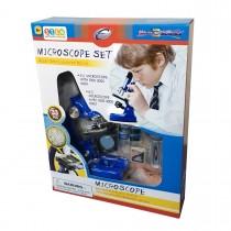 """Набор для исследований """"Микроскоп"""", 33 предмета, цвет синий"""