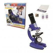 """Набор для исследований """"Микроскоп"""", 23 предмета, цвет синий"""