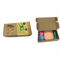 """Набор для творчества """"Живой Песок. Стандарт"""", 500 грамм с игрушками, цвет оранжевый"""
