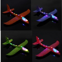 Самолет планер из пенопласта со светящимся фюзеляжем, 48 см, в ассортименте