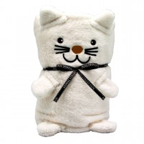 Мягкая игрушка-плед «Белый Котик», 60х90см