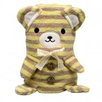 Мягкая игрушка-полотенце «Медвежонок», 100х70см
