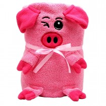 Мягкая игрушка-полотенце «Розовая Свинка», 130х180см
