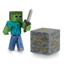 "Фигурка ""Minecraft Zombie"" Майнкрафт Зомби с аксессуарами, 8 см"