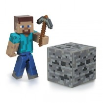 "Фигурка ""Minecraft Steve"" Майнкрафт Игрок с аксессуарами, 8 см"