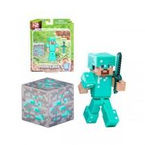 "Игрушка-фигурка ""Minecraft Diamond Steve"" (Стив) с аксессуарами, 8см"