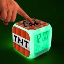 """Часы настольные пиксельные с подсветкой """"Блок ТНТ"""""""
