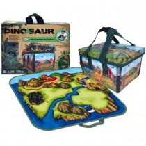 "Игровой набор ""Мини"" ЗипБин Динозавр: коробка-коврик, две игрушки"