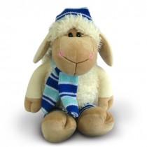 """Мягкая игрушка """"Овечка"""" в шапочке и шарфике, 21 см"""